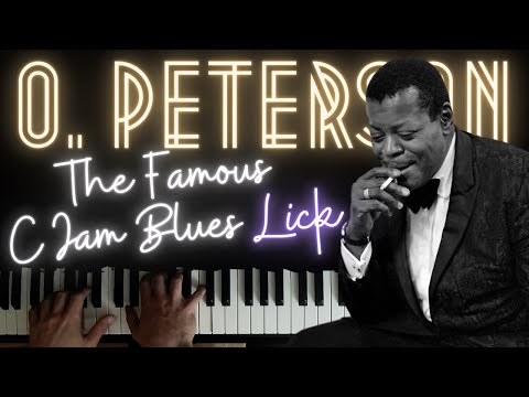 Oscar Peterson Jazz-Blues Lick (and 7 ways to practice it) │Jazz Piano Lesson #15