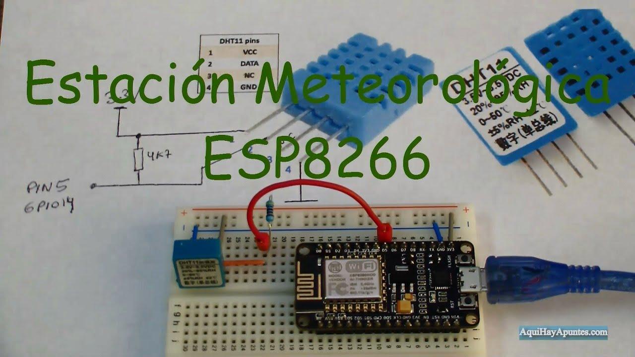 Estaci n meteorol gica con dht11 y esp8266 youtube - Estacion meteorologica precio ...