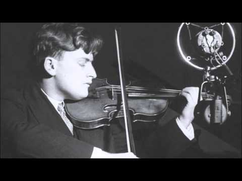 Yehudi Menuhin, violinist - Ravel Kaddisch 1936