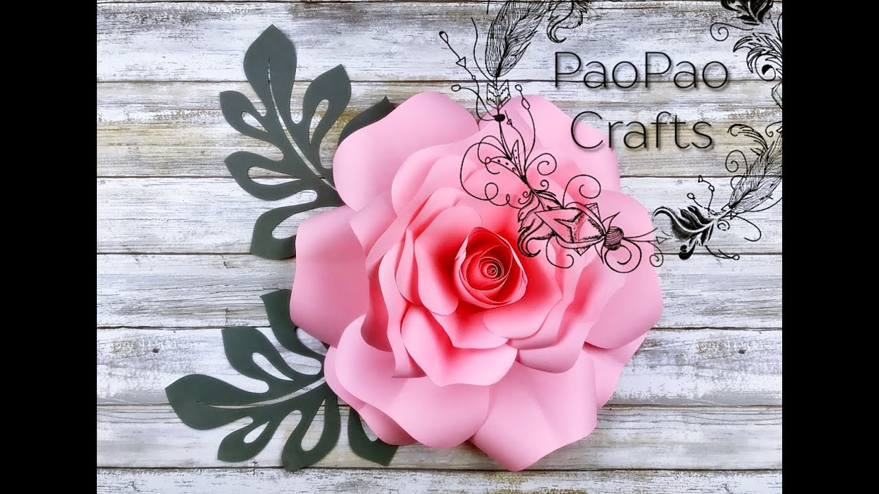 Rosa De Papel Flores De Papel Moldes Gratis How To Make Paper