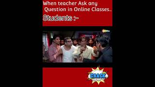 😂😂😂When teacher ask question in online class | funny memes | madster hub