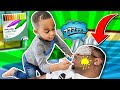 Kid Drawing On Daddy Face Prank | DJ's Clubhouse