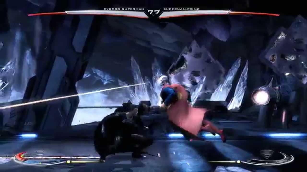 Injustice gods among us classic cyborg superman vs superman prime