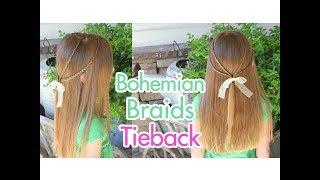 Bohemian Braids Tieback | Cute Girls Hairstyles
