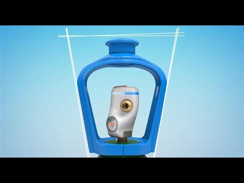 Smartop la t te de bouteille pour gaz de soudage tig mig - Distributeur de bouteille de gaz automatique ...