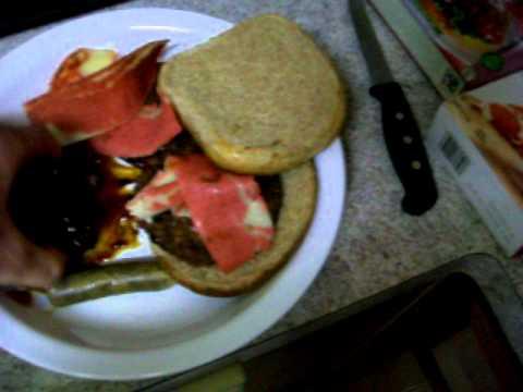 Meatatarian Baconator Burger Vegetarian Spoof (LOL...
