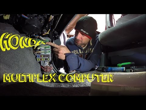 honda passenger multiplex control unit replacement - how to - 2004 odyssey