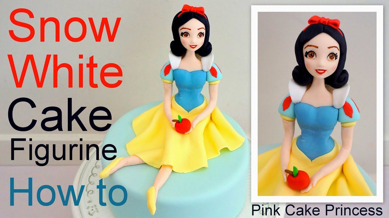 Snow White Cake Figurine how to by Pink Cake Princess YouTube