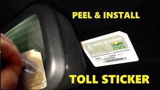 how to install unpeel transponder vehicle car windshield sticker sunpass mini e pass e zpass tolltag