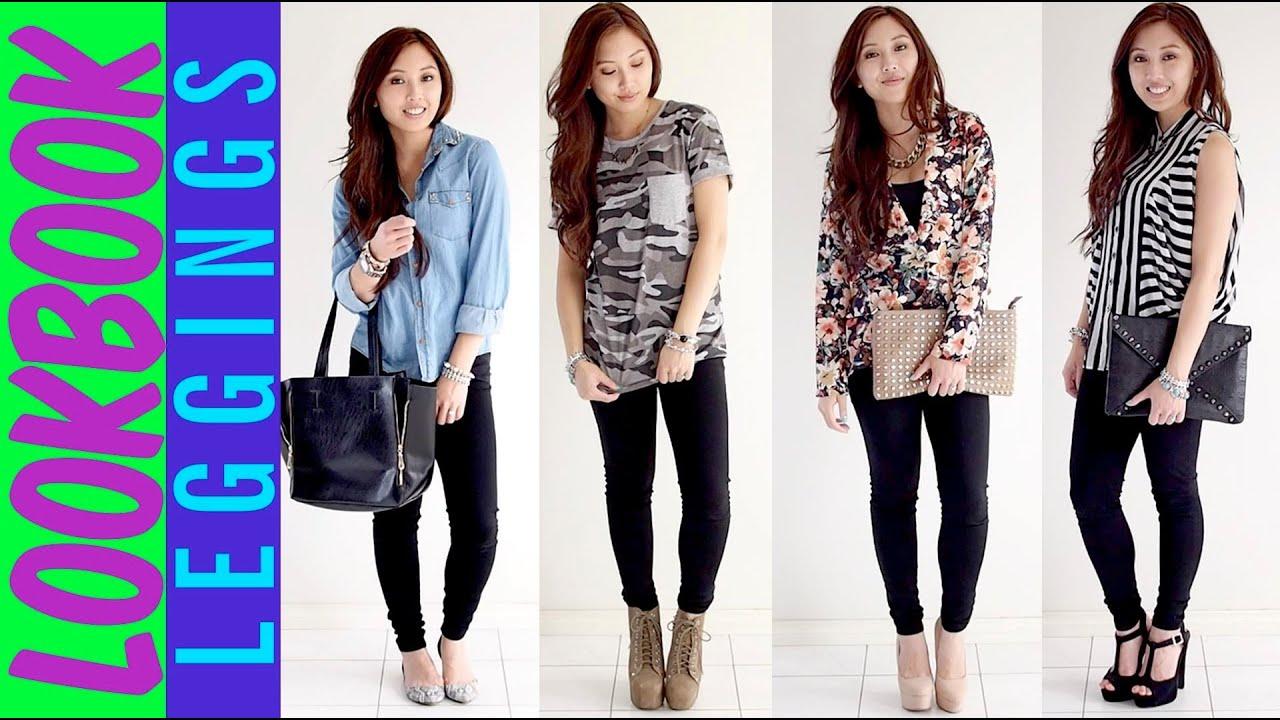 34dddbfaf74e8 How to wear leggings as pants - Spring Lookbook - YouTube