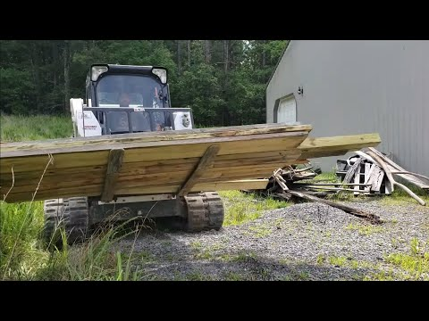 skid-steer-to-the-rescue!-july-4th-barn-clean-up-&-gravel-work-with-bobcat-t650!