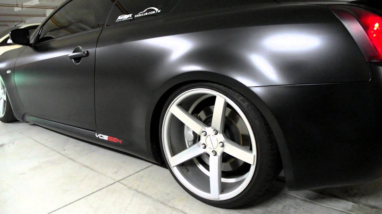"Nissan Altima Coupe Custom Satin black G37 coupe vossen 20"" cv3 and AirREX Digital Air suspension ..."