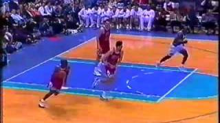mj dunks on bobby sura bulls cavs 1997