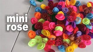 Cara membuat bros dari kain flanel - mini rose hi .....edisi video ini adalah tutorial bagaimana yang berbentuk serupa dengan bunga mawar,,,,,, ...