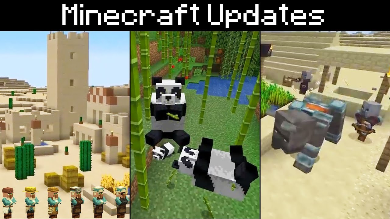Minecraft Pandas Bamboo Cats Scaffolding Village Pillage New