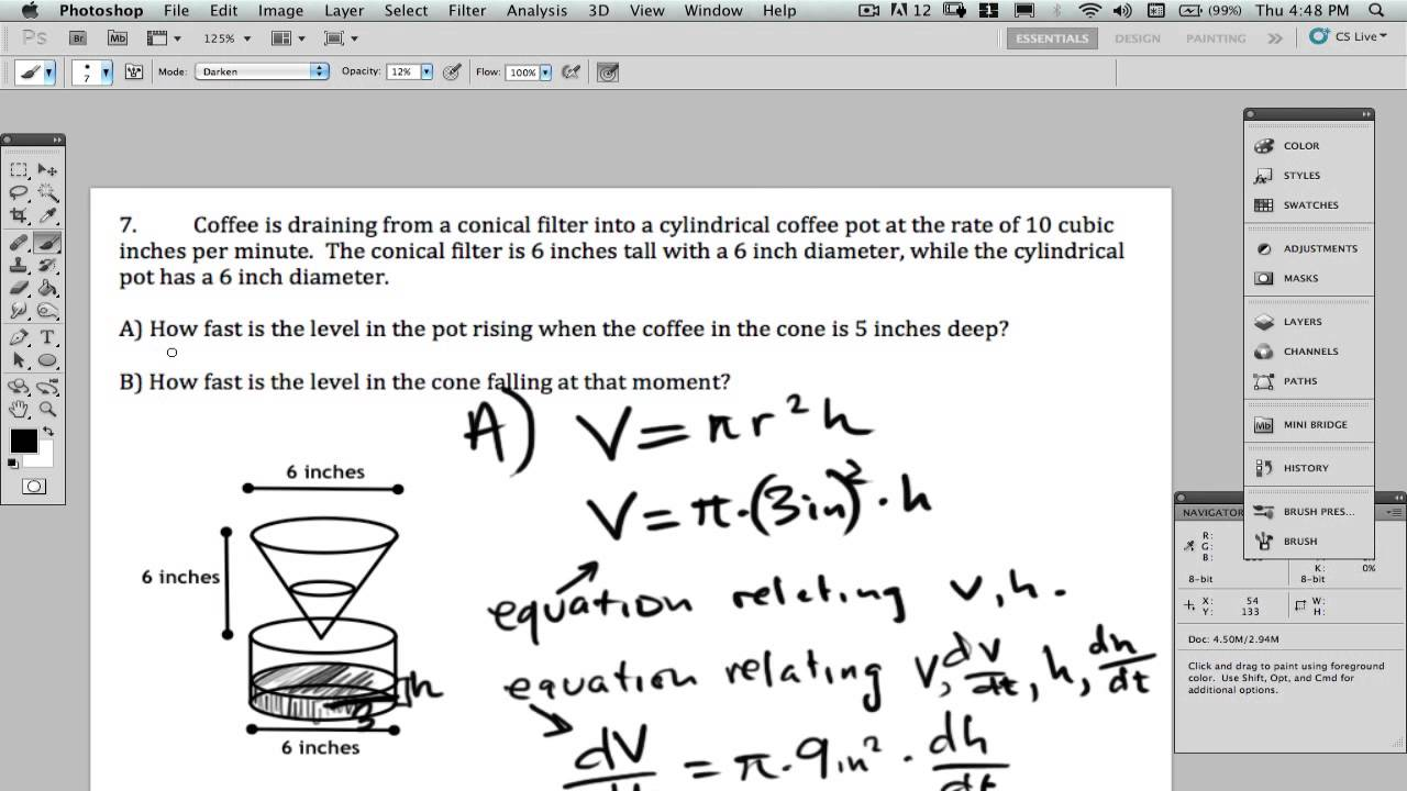 Calculus Coffee Rate Problem