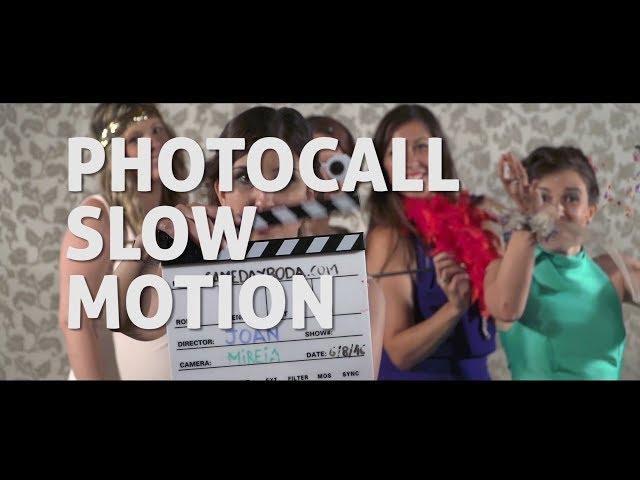 Photocall Slow Motion Same Day Boda