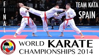 Final Male Team Kata SPAIN. 2014 World Karate Championships