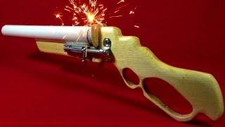 как сделать пороховой пистолет из дерева
