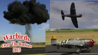 12 foot wingspan P47 Bomb Drop explosion at WOTR 2013