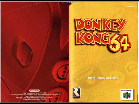 donkey kong 64 game manual n64 instruction booklet youtube rh youtube com Carcassonne Game for the Instruction Manual Toy Instruction Manual
