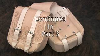 Learn How TO Make Leather Biker Saddle Bags   Part 2  of 3