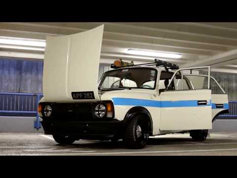 Moskvich 412 Russian Police Car Retroride Drift car Unique Москвич AZLK Ford Zetec