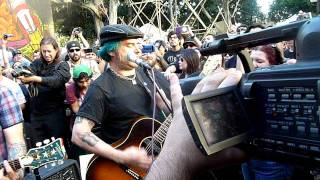 Eric Melvin & Fat Mike Play Murder The Government at Occupy LA