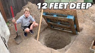 I dug an underground bunker in my backyard