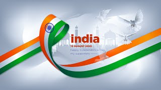 happy independence day | Wallpaper Design in illustrator