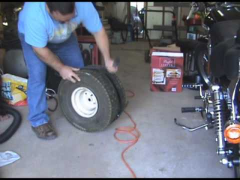 How To Reinflate A Tubeless Tire That Is Not Sealed On The Rim Youtube