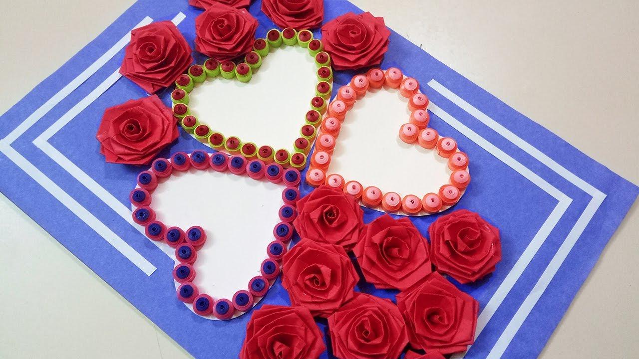 How to make a beautiful three heart shaped birthday greeting card how to make a beautiful three heart shaped birthday greeting card paper quilling art m4hsunfo