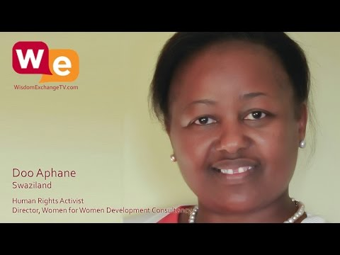 Wisdom Exchange TV with host Suzanne F Stevens presents: Doo Aphane | Human Rights Activist
