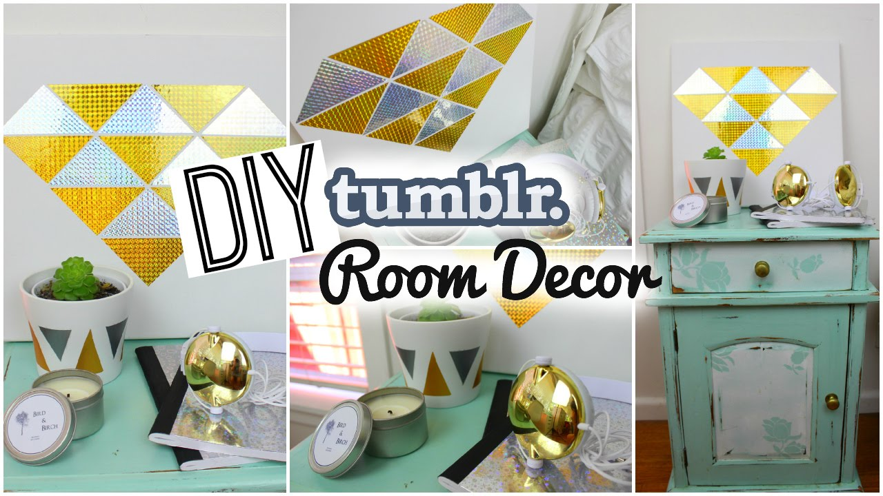 Diy spring room decor tumblr inspired youtube for Diy room decorations youtube