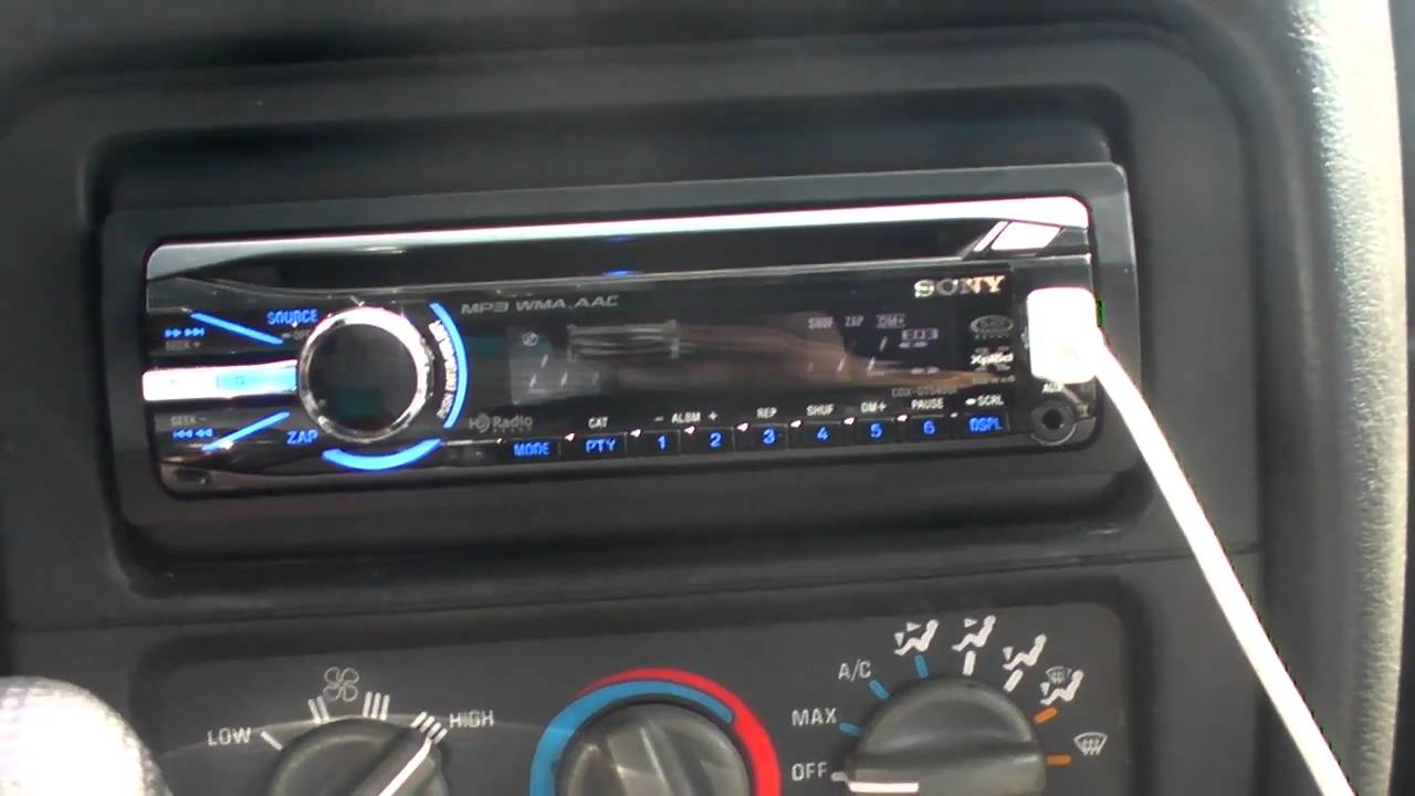 Improving Sound: Sony CDXGT540UI Headunit Review  YouTube