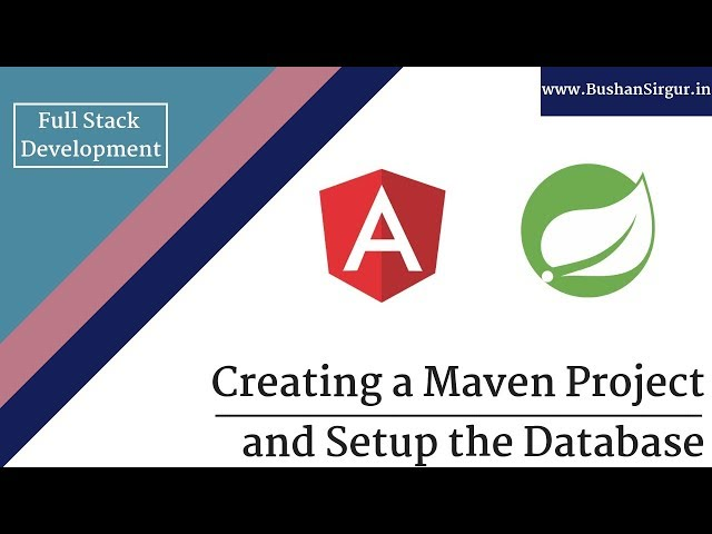 Angular and Spring MVC CRUD Tutorial - Creating a maven project - Part 1