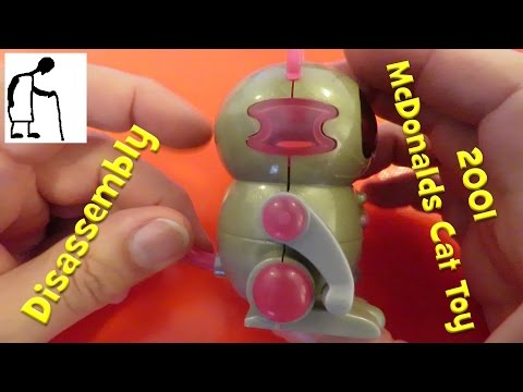 2001 McDonalds Happy Meals Robo-Chi Pets Meow-Chi - Disassembly
