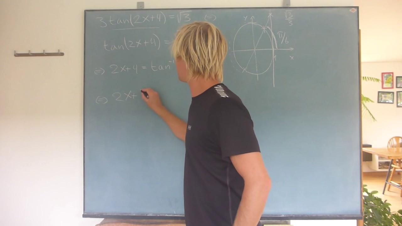 Trigonometriske ligninger med tangens