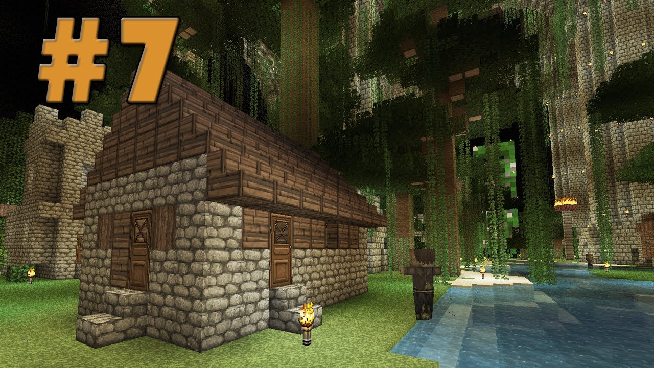 Underground NPC Village  Minecraft Old World New Map 7  YouTube
