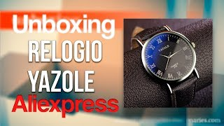 Unboxing relogio YAZOLE - Aliexpress