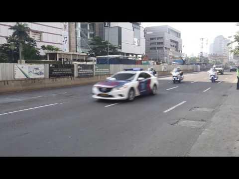 Panjangnya Konvoi Wapres AS Mike Pence di Indonesia