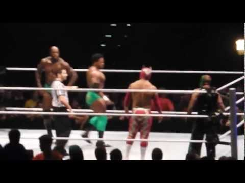 Rey Mysterio and SinCara vs. Prime Time Players SMACKDOWN World Tour Zürich Hallenstadion 9.11.2012
