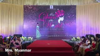 All candidates talent show by Mrs  Queen of the World International 2018