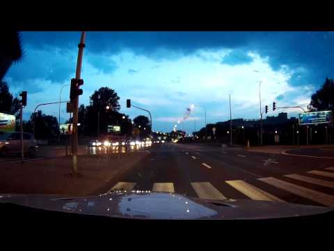 BMW M3 E92 (onboard) vs. Motorcycles street race in Warsaw, Poland