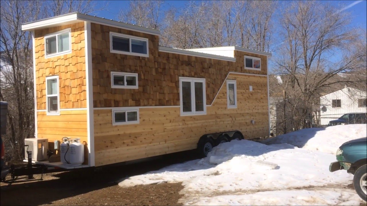 Custom 28 foot tiny house for family of four youtube for House plans for family of 4