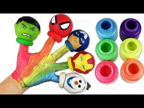 children-body-paint-finger-family-nursery-rhymes-super-heroes-learn-colors-fun-&-creative-for-kids