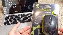 Gear Head Dual Mode Wireless Mouse, Bluetooth & 2.4G (MBT9950BLK) Quick Review (ACO)