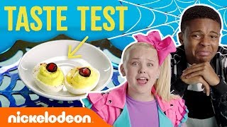 Trick Or Treat Taste Test 🍬 Ft. JoJo Siwa, Jace Norman & More! | #NickStarsIRL