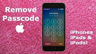 How To REMOVE Forgotten iPhone 6S 6 PASSCODE Tutorial   UNLOCK iPad Air Mini iPod iOS Password Code
