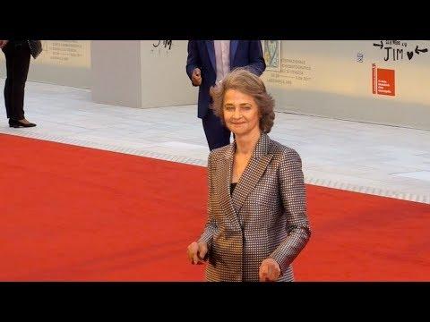 Charlotte Rampling at 2017 Venice Film Festival closing ceremony red carpet